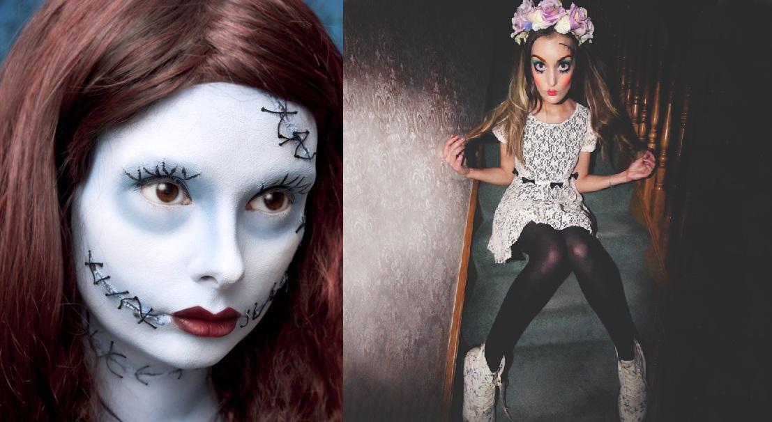 Makijaż Na Halloween Dla Dziewczynek Makijaż Na Halloween Szkielet