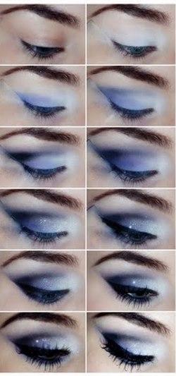 макияж глаз для голубых пошаговое фото