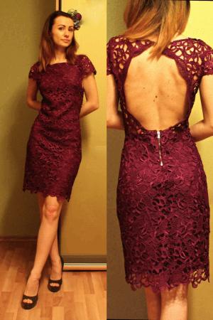 09b19991af3d Ένα φόρεμα με δαντελένιο δαντέλα ταιριάζει απόλυτα με τα κλωστοϋφαντουργικά  παπούτσια σε ψηλό τακούνι. Μοντέλο Lacy