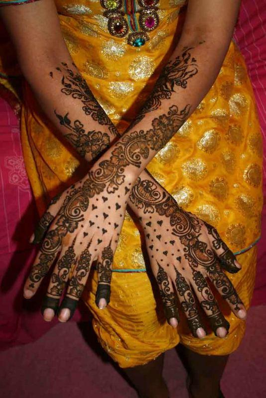 Apa Nama Gambar Di Tangan Pacar Melukis Dengan Henna Di Tangan