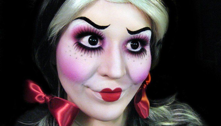 Straszny Makijaż Z Bawełny Na Halloween Halloweenowy Makijaż