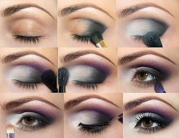 Purple Wedding Makeup For Brown Eyes